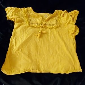 Tops - Mustard yellow top.